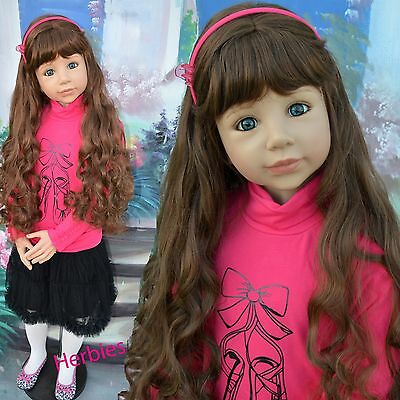 Masterpiece Christina, Long Brown Wig, Fits Up to 20-inch Head, New In Bag