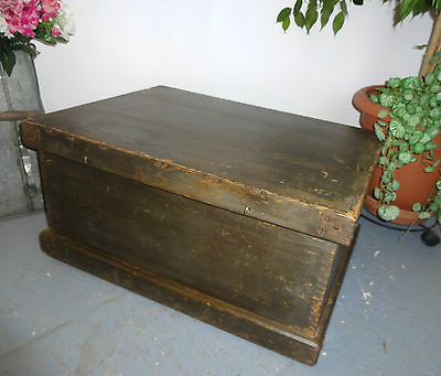 Lovely Large Wood Wooden Blanket Boxe Box Chest Storage Strongbox