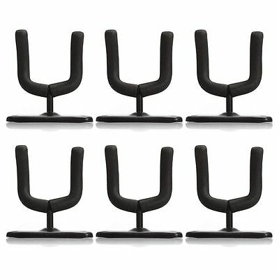 6 Guitar Hanger Stand Holder Hook Wall Mount Rack Acoustic Electric Bass Display