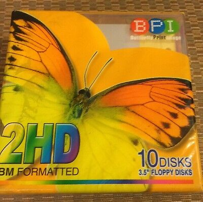 New 2HD INM Formatted Floppy Disks Pack Of 10