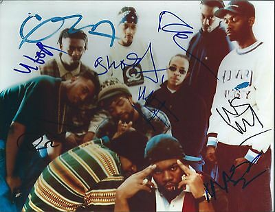 Wu-Tang Clan Signed by 9 Amazing Authentic Autographed 8.5x11 Photo