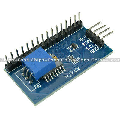New IIC/I2C/TWI/SPI Serial Interface Board Module For Arduino 1602 LCD Display