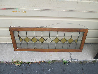 56956 Antique Leaded Glass Stain Glass Window
