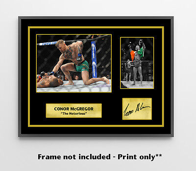 Conor Mcgregor Signed Print Poster Photo Ufc Wall Art Picture Decor 189 194 205