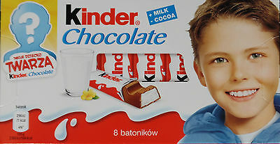 Kinder Chocolate case 10x100g 8 bars each