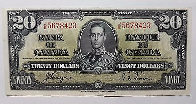 1937 $20 Dollar Coyne Towers JE5678423 Bank of Canada