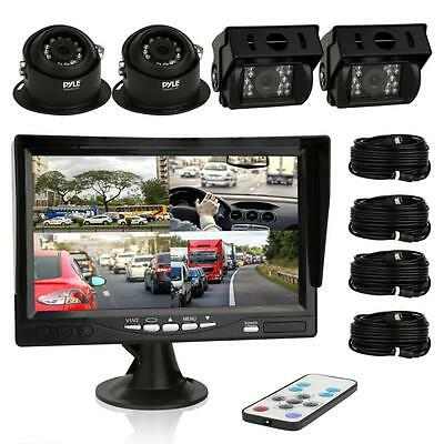 Truck/Bus/RV/Camper/Commercial Vehicle Back-Up Camera Monitor Quad View Kit