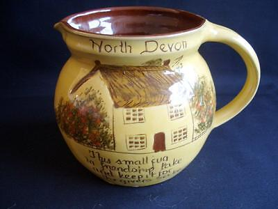 "Mottoware Cottage Design Jug - North Devon - 4"" Tall"