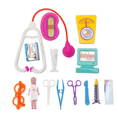 15pcs Kids Baby Doctor Medical Play Carry Set Education Role Play Toy Kit