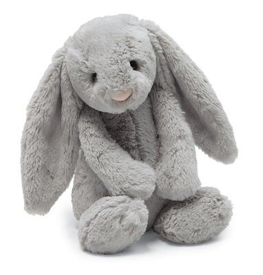 "Jellycat Soft Toy Lovelies Grey Bunny Plush 11""inch-Doll Birthday Stuffed Gift"
