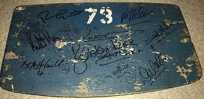 Multi Signed Sunderland 1973 FA Cup Winners Original Wembley Stadium Seat Proof