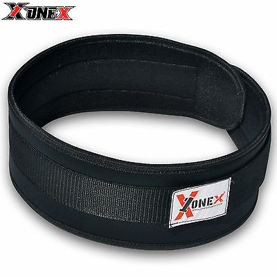 Weight Lifting Belt Gym Back Support Power Training Lower Lumber Pain Wide Blk