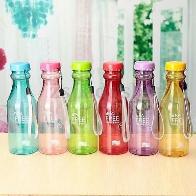 550ml BPA Free Cycling Bicycle Camping Sports Unbreakable Plastic Water Bottle
