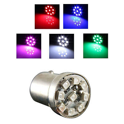 12V Decorative Turn Flash 9-LED Lamps Light for Motorcycle Car, Red L3