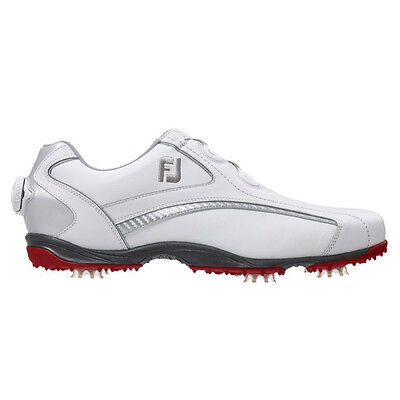 Footjoy Mens Hydrolite Golf Shoes BOA #50077 / White - Red / UK 6.5 Wide 2015