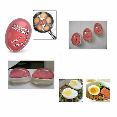 Egg Perfect Color Changing Timer Yummy Boiled Eggs + Spring Wire Egg Cup New Pro