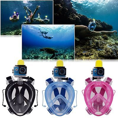 AU Full Face Snorkeling Snorkel Mask Diving Goggles With Breather Pipe For GoPro