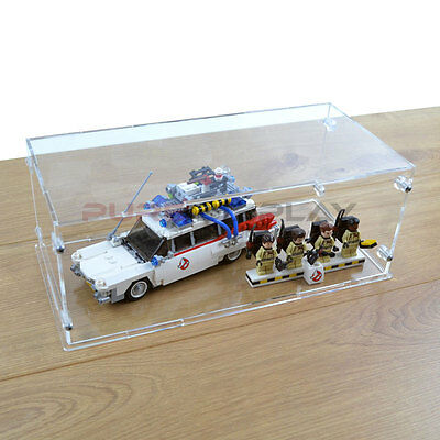 Lego Acrylic Display Box Case for 21108 Ghostbusters Ecto-1 and minifigure riser