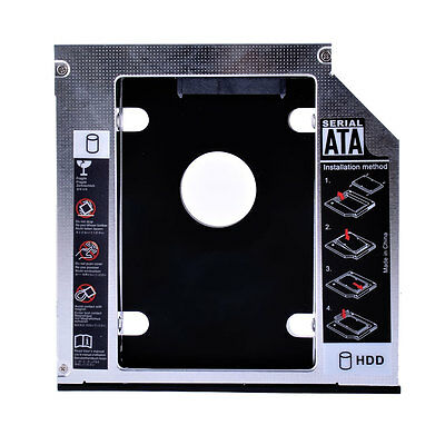 SATA to IDE PATA 2nd HDD SSD Caddy Module Tray Adapter 12.7mm Optical Bay