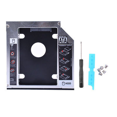 SATA to SATA 2nd HDD SSD Caddy for 12.7mm Universal CD DVD-ROM Optical Bay