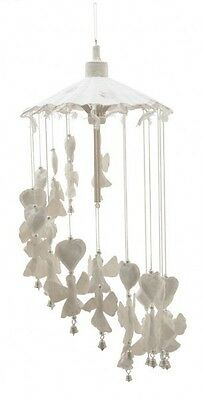 Angels and Hearts Mobile Decoration.  Made From Saar Paper Wind Chime with bells