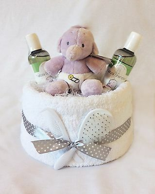 Bath time Unisex Nappy Cake. Ideal baby gift. SALE