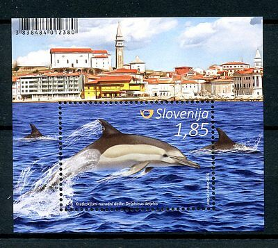 Slovenia 2016 MNH Whales & Dolphins 1v M/S Marine Animals Stamps