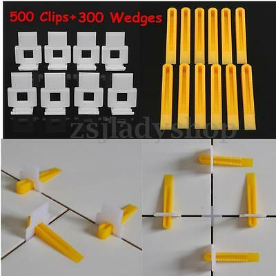 800 Tile Leveling System - 500 Clips + 300 Wedges-Spacers Flooring Lippage Tools