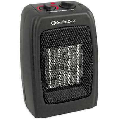 Electric Portable Ceramic Space Heater Adjustable With Fan Thermostat Control