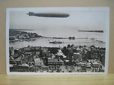 Switzerland. Suisse. Geneve. Zeppelin. Original Old Postcard