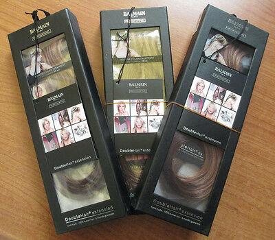 3 x Balmain Paris Double Hair Volume Colour 30cm extension 3pcs Cashmere 4/L8