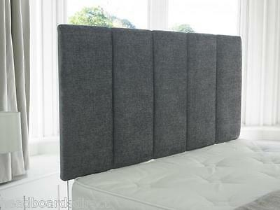 """Chenille BedHead New 3ft Single 4ft6 Double 5ft King Size BED HEADBOARD 26"""" HIGH"""