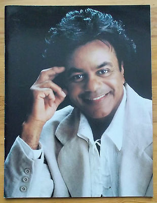 Johnny Mathis The Voice of Romance In Concert souvenir brochure programme 1990's