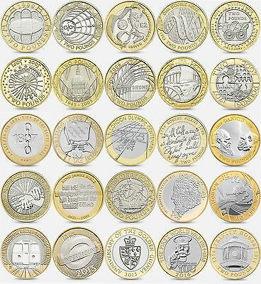 Rare Two Pound (£2) Coins - Great Britain £2 - Various Types - Circulated
