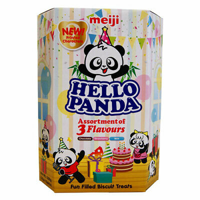 Hello Panda Assorted Flavour Filling Biscuits - 10 X 26G