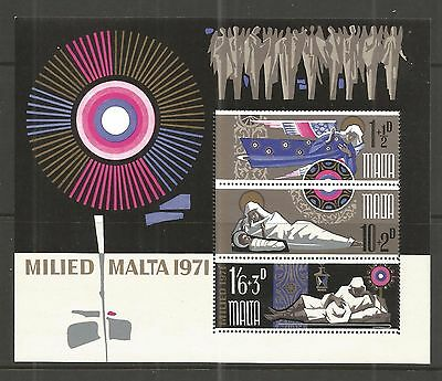 Malta 1971 Christmas Minisheet Sg,ms463 Um/m Nh Lot 5L