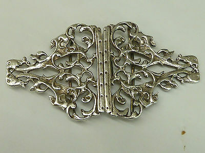 Pretty Solid Hallmarked Silver Nurses Belt Buckle 55.7g