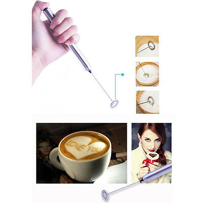 Electric Agitator Multi Use Egg Beater Milk Frother Whisk Coffee Shake Mixer New