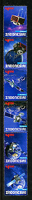 Indonesia 2016 MNH Indonesian Satellites BRIsat LAPAN 6v Strip Space Stamps