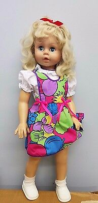 "28"" Realistic Dress up play doll Made in China Stamped 1280 Movable eyelids"