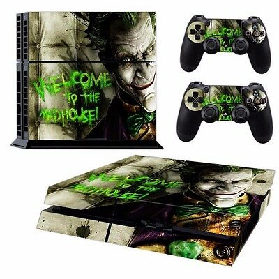 Horrible Joker Batman Vinyl Decals Skin Stickers for PS4 Console Controllers A92