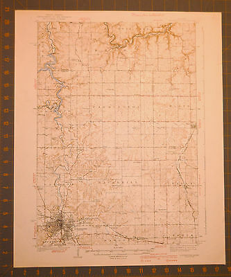 Rochester Minnesota 1939 Large Antique USGS Map Printed 1939 16x20