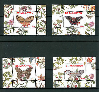 St Maarten 2016 MNH Butterflies 4 x 1v S/S 13- 16 Vlinders Insects Stamps