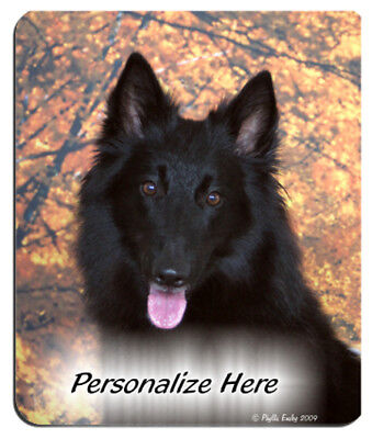 Belgian  Sheepdog  Personalized  MousePad