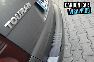 VW TOURAN Typ 5T Ladekantenschutz 3D CARBON SCHWARZ CAR WRAPPING