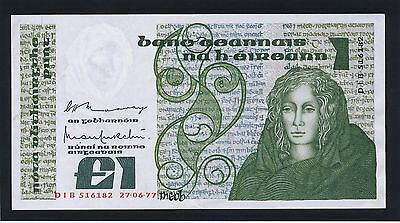 1977 (early date) Ireland Republic Central Bank £1 B-Series banknote
