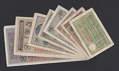 Germany 9 banknotes Reichsmark 1940 - 1945, Pick: R135 - R140, F, FULL SET (24)