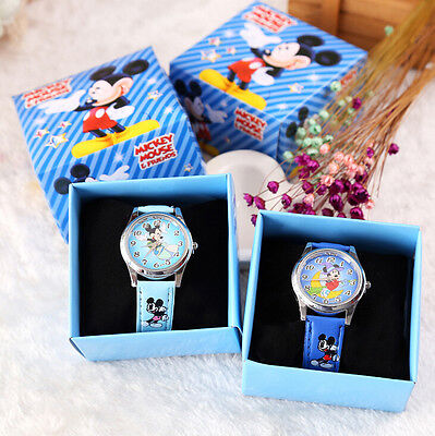12pcs/lot Mickey Mouse watches Cartoon Wristwatch Kids Watch With Gift Box Y782