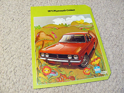 1971 Plymouth Cricket (Usa) 4-Page Sales Brochure...