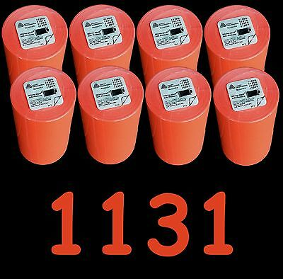 Avery Dennison labels for Monarch 1131 Red 64 rolls = 8 sleeves, Price gun label
